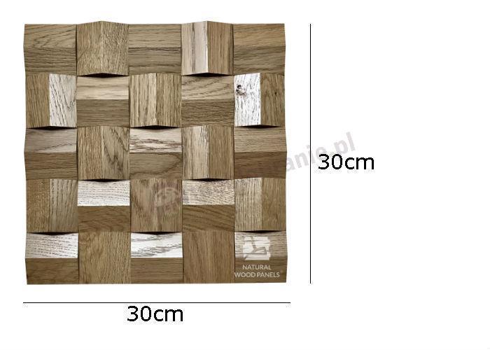 Natural Wood Panels Crystal series Dąb rustika 081 - wymiary