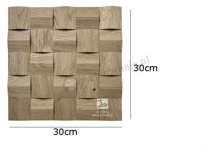 Natural Wood Panels Crystal series Dąb surowy 080 - wymiary