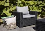 Krzesło ogrodowe z poduszkami na siedziska California Allibert