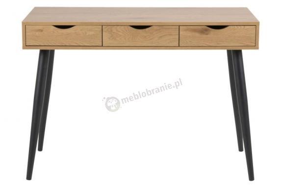 Actona Neptun drewniane dębowe biurko z czarnymi nogami