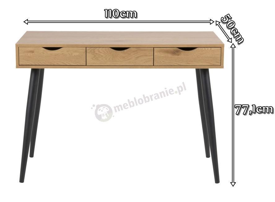 Actona Neptun drewniane biurko - wymiary