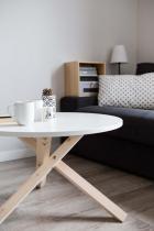 Minimalistyczny stolik kawowy biały Triple-68