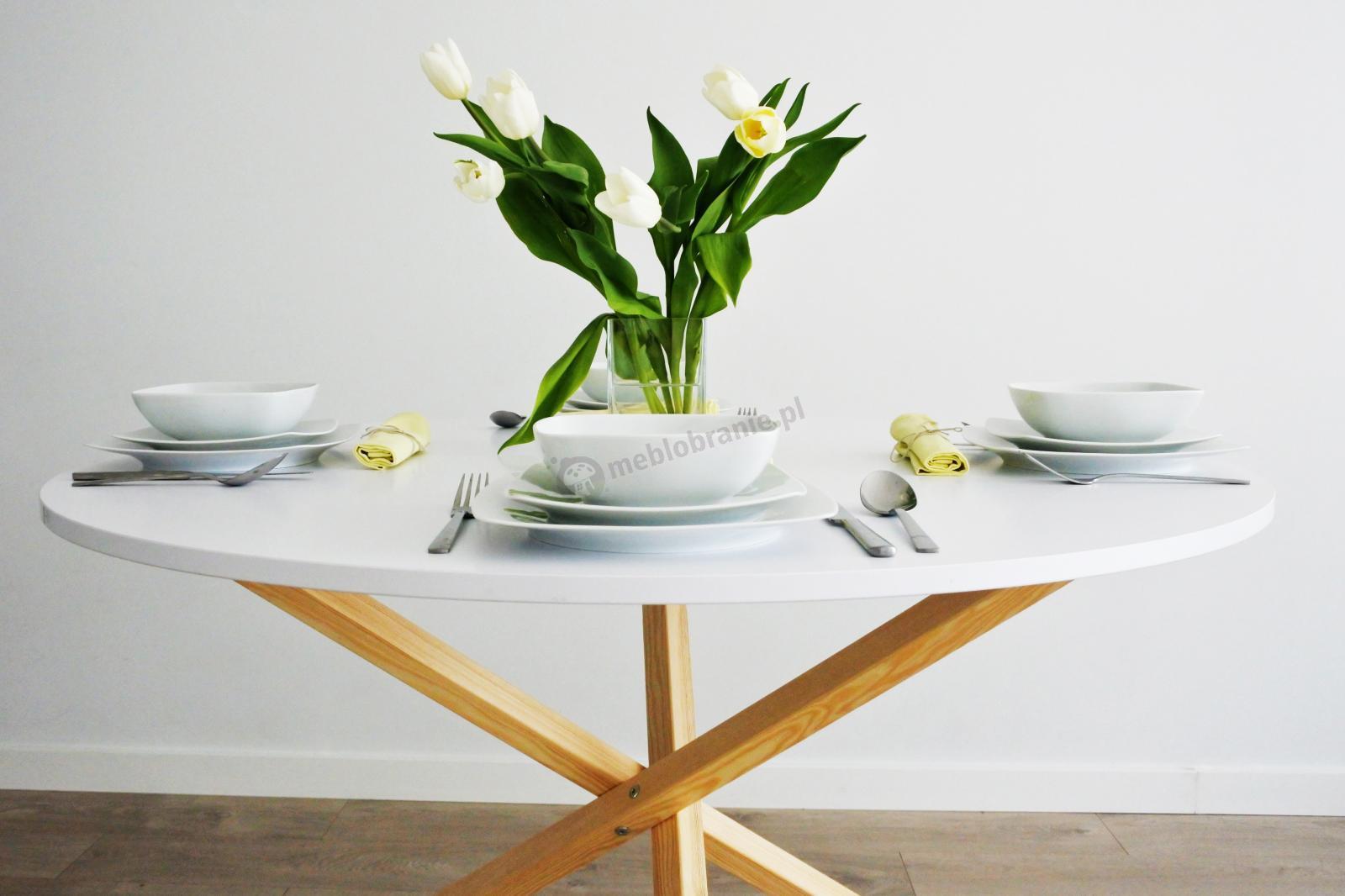 Stolik jadalniany biały Triple