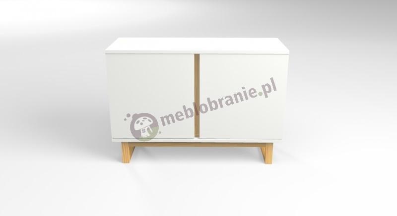 Minimalistyczna biała szafka w stylu skandynawskim Deskom 2