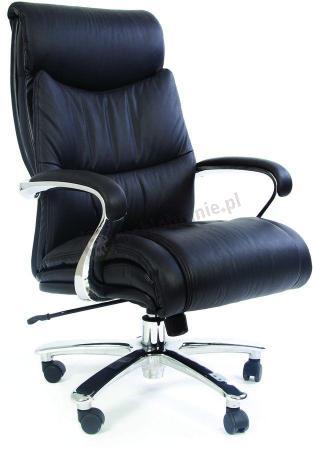 Wygodny fotel do komputera skórzany Chairman 401