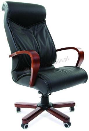 Fotel biurowy z drewnianymi podłokietnikami Chairman 420 WD