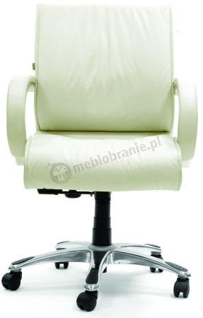 Dobry fotel biurowy biały obrotowy Chairman 444