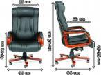 Fotel dla prezesa skórzany obrotowy Chairman 653-wymiary