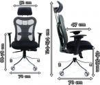 Nowoczesny fotel biurowy regulowany Chairman 769-wymiary