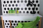 Womeb Des5 1 białe biurko z szufladą 100cm