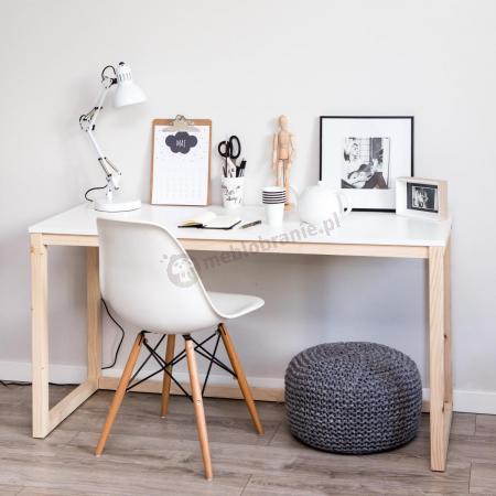 Białe biurko w stylu skandynawskim Des 3 100 cm