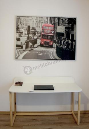Skandynawskie biurko białe Des-6 120 cm