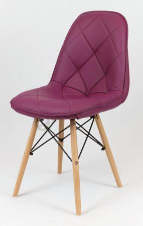 Purpurowe krzesło do jadalni KS007