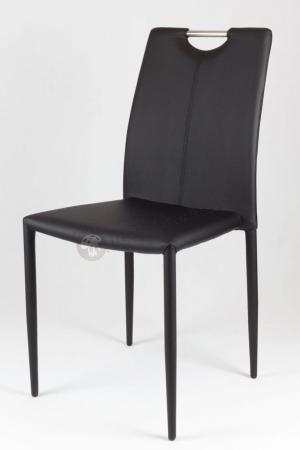 Krzesło tapicerowane czarne KS006