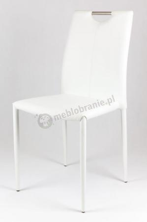 Krzesło białe tapicerowane KS006