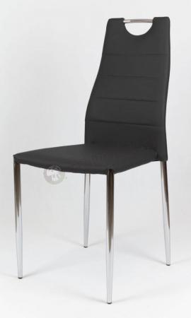 Krzesło czarne tapicerowane do jadalni KS005