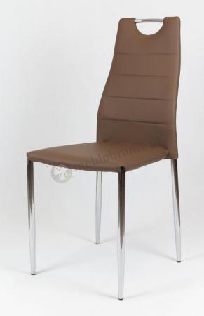 Krzesło brązowe tapicerowane KS005
