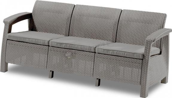 Wyprzedaż - Sofa ogrodowa Corfu Love Seat Max - cappucino