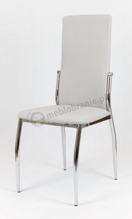 Krzesło tapicerowane jasnoszare KS004