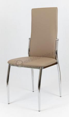 Krzesło tapicerowane beżowe KS004