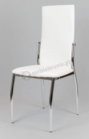 Białe krzesło z ekoskóry KS004