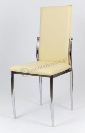 Kremowe krzesło konferencyjne ekoskóra KS004