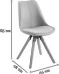 Actona Dima krzesło tapicerowane szare