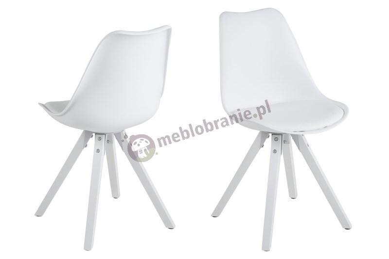 Actona Dima krzesło plastikowe białe