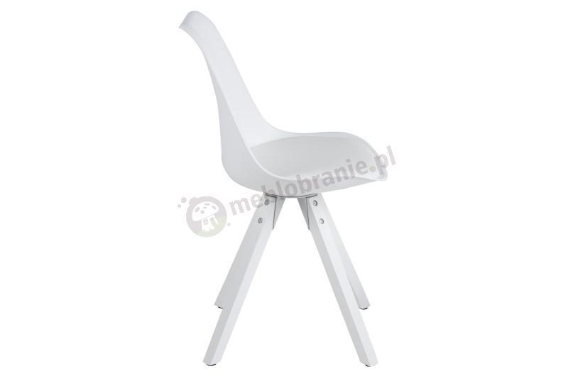 Actona Dima białe krzesło design skandynawski - widok z boku