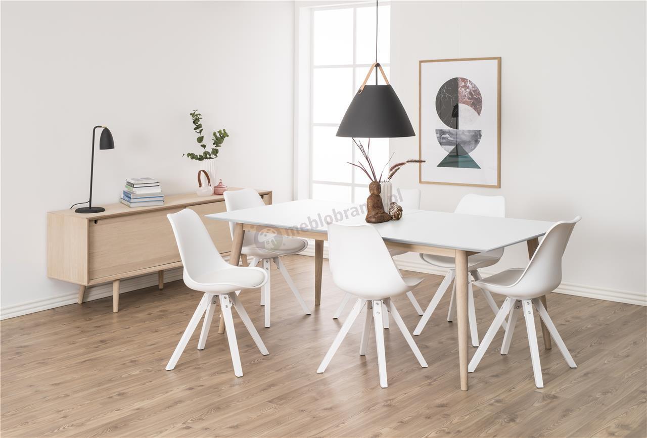 Actona Dima krzesło design skandynawski białe - aranżacja wnętrza