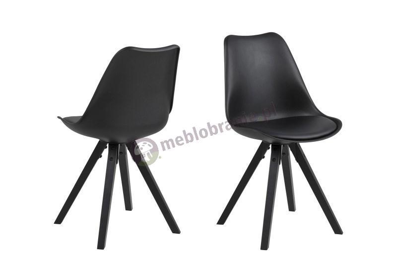 Actona Dima krzesło plastikowe czarne