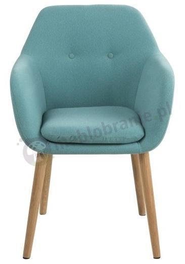 Actona Emilia krzesło tapicerowane z podłokietnikami - widok od frontu