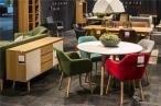 Actona Emilia krzesło tapicerowane z podłokietnikami turkusowe
