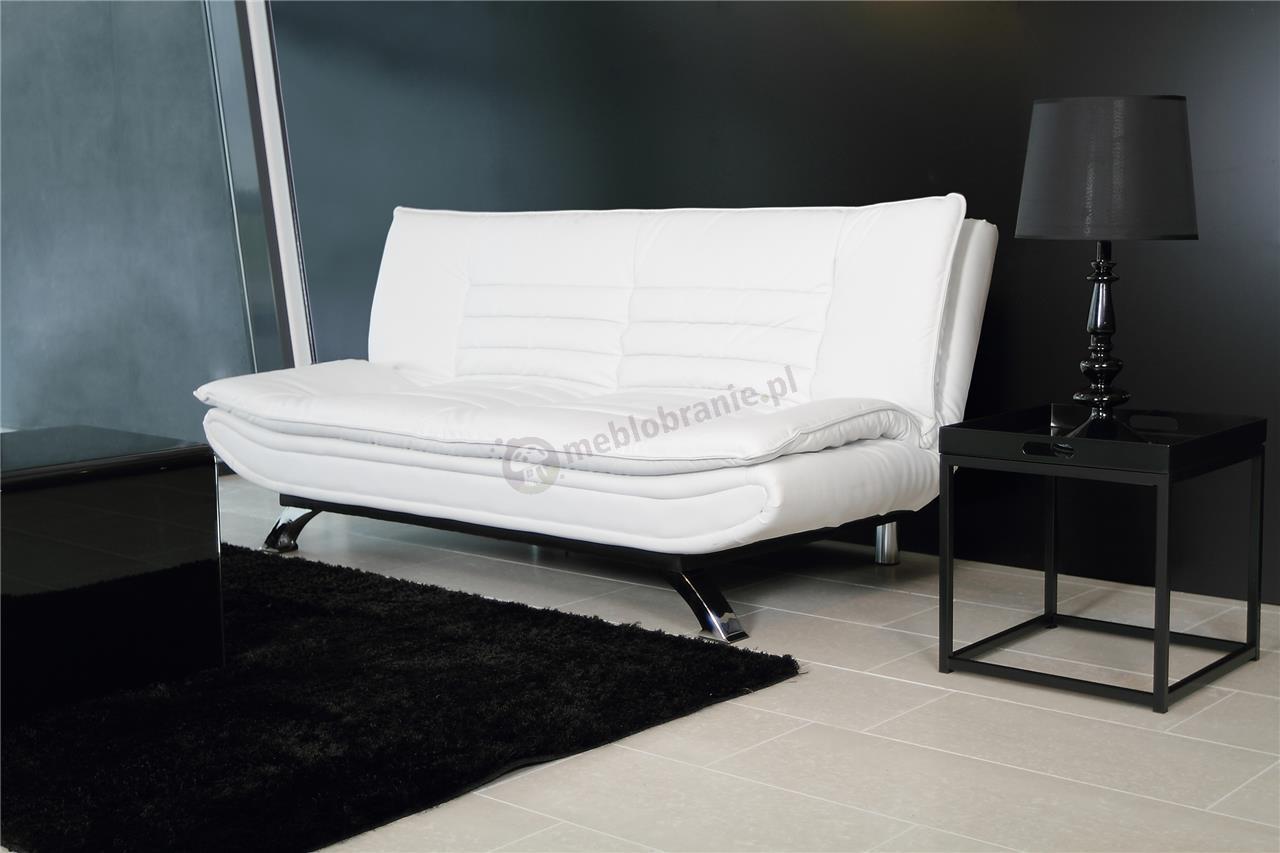 Aranżacja wnętrza biała rozkładana sofa Faith Actona