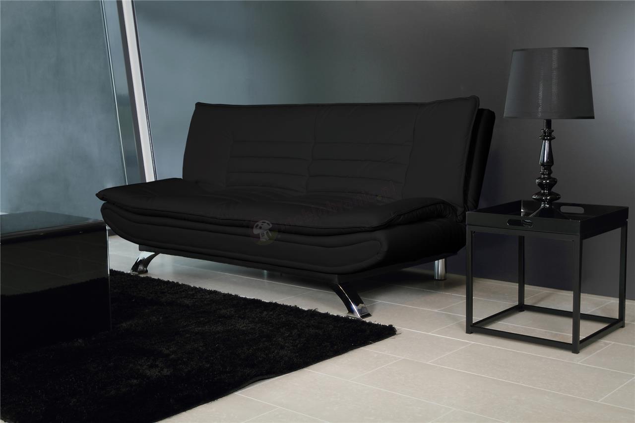 Aranżacja wnętrza czarna rozkładana sofa Faith Actona