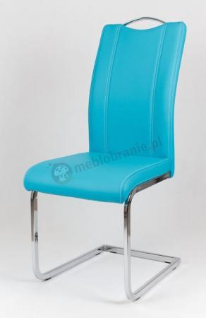 Krzesło tapicerowane ekoskórą turkusowe KS003