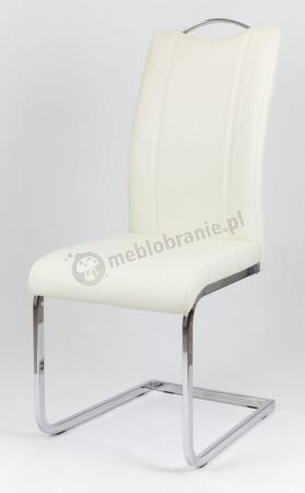 Krzesło tapicerowane kremowe KS003