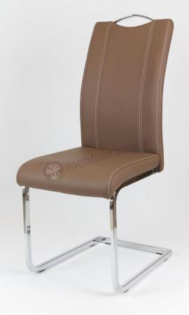 Krzesło tapicerowane brązowe KS003