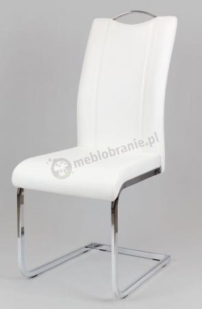 Białe krzesło podstawa bujak KS003