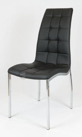Krzesło pikowane czarne KS002