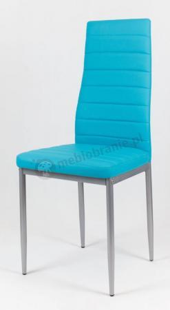 Turkusowe krzesło malowane KS001