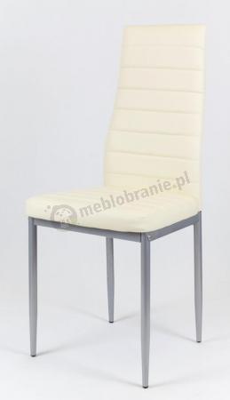 Beżowe krzesło malowane nogi KS001