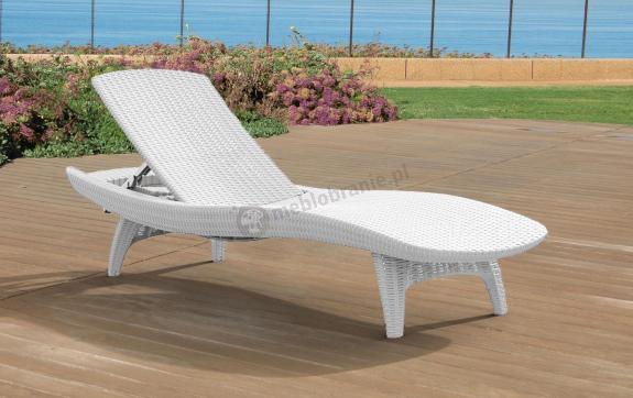Wyprzedaż - Leżak basenowy Pacific biały