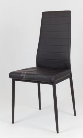 Czarne krzesło z czarnymi nogami KS001