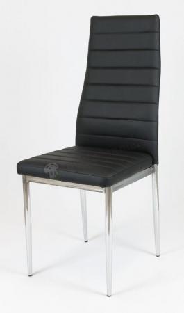 Krzesło czarne chromowane nogi KS001