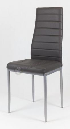 Ciemnoszare krzesło malowane nogi KS001