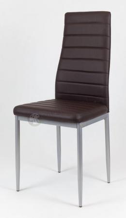 Krzesło ciemnobrązowe malowane nogi KS001