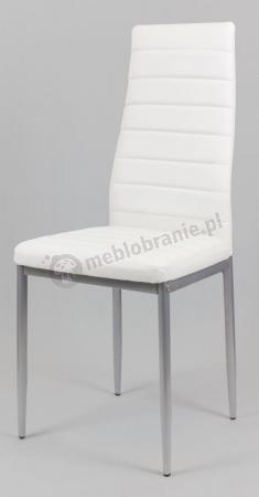 Białe krzesł z malowanymo nogami KS001