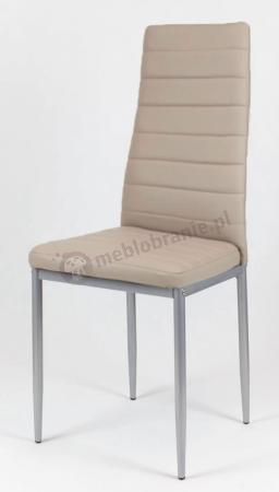 Krzesło beżowe malowane nogi KS001