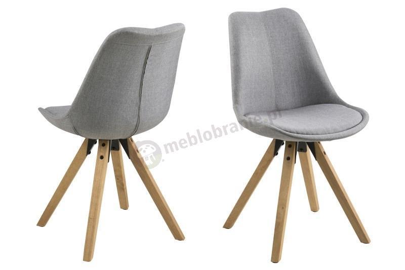 Actona Dima jasnoszare krzesła skandynawskie